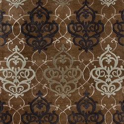 """Loloi Rugs - Loloi Rugs Yakima Collection - Brown, 5'-0"""" x 7'-6"""" - The Yakima Collection is a transitional hand-tufted line that utilizes strands of faux silk to highlight subtle patterns. This tasteful collection is made of wool and viscose."""