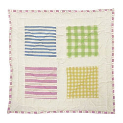 Patch Quilts - Spring works Toss Pillow 16 x 16 Inch - Decorative patchwork quilted pillow  - Accents with ensembles and bedding items from Patch Magic   - Machine washable  - Line or Flat dry only Patch Quilts - TPSPWK
