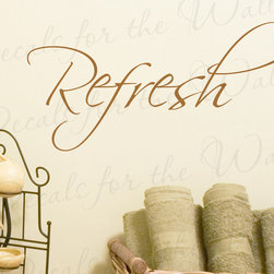 Decals for the Wall - Wall Quote Decal Sticker Vinyl Art Lettering Decoration Refresh Inspiring W8 - This decal says ''Refresh''