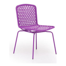 Zuo Modern - Zuo Silvermine Bay Chair in Purple [Set of 4] - Silvermine Bay Chair in Purple by Zuo Modern Funky design and hot colors, the Silvermine chair will have your friends asking for more. The frame is 100% epoxy coated steel durable in any climate. Chair (4)