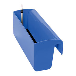 Colorful Self Watering Railing Planter, Blue - Enliven any Porch, Deck or Patio Railing with a Self Watering Railing Planter
