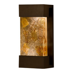 Fine Art Lamps - Crystal Bakehouse Carnelian & Citrine Crystal Sconce, 810850-11ST - Bring the beauty of natural minerals to your favorite setting — indoors or out. This sleek wall sconce showcases a hand-crafted, polished block of carnelian and citrine crystal shards within a sleek frame.
