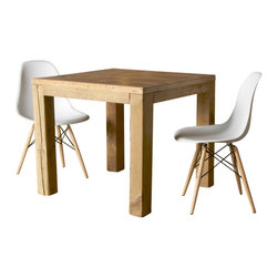 Urban Wood Goods - Parsons Urban Wood Dining Table - 100 years of solitude. So not the agenda here. The reclaimed wood used to create this uniquely modern Parsons-style dining table has been an important part of human activity for over a century. It's only now showing up to host your next feast or family supper, and can party on for decades to come.