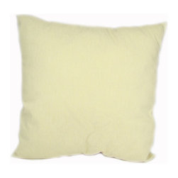 American Mills - Natural Gibney 24-Inch Floor Pillow - -Update your home decor with this decoratively functional floor pillow.  Comfortable pillow is ideal for floor, sofa or bed.  Spot Clean Only.  Made in USA. American Mills - 37682.105