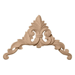 """Ekena Millwork - 10""""W x 10""""H x 1""""D Large Caputo Corner, Cherry - 10""""W x 10""""H x 1""""D Large Caputo Corner, Cherry. Our appliques and onlays are the perfect accent pieces to cabinetry, furniture, fireplace mantels, ceilings, and more. Each pattern is carefully crafted after traditional and historical designs. Each polyurethane piece is easily installed, just like wood pieces, with simple glues and finish nails. Another benefit of polyurethane is it will not rot or crack, and is impervious to insect manifestations. It comes to you factory primed and ready for your paint, faux finish, gel stain, marbleizing and more."""