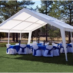 "King Canopy 12 x 20 ft. Expandable Canopy - About King CanopyIn 1940, King Canopy started as a small family business in North Carolina. Since then, King Canopy has been providing customers with high quality outdoor covers, including canopies and cabanas, as well as other recreational covers and canopy products. These sturdily constructed products span a variety of uses, including providing shade and shelter for areas such as patios and greenhouses, to events such as parties and flea markets. Moreover, King Canopy's covers aptly protect cars, trucks, recreational vehicles, boats, and jet skis; they may also serve as a free-standing temporary carport, dock house, gazebo, or garage. With a mission """"to provide high quality, innovative outdoor leisure and sports products that offer tremendous value to our customers,"""" King Canopy remains committed to their values of family and honesty, and producing top-quality products."
