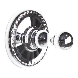 Century Hardware - Aria- Robe Hook, Polished Chrome - SKU: 81310-26