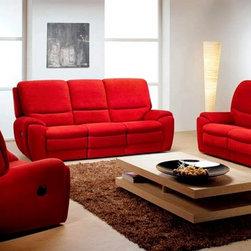 Morena Living Room Furniture Sofa Set with Recliners by ROM, Belgium - Morena Living Room Furniture Sofa Set with Recliners includes: