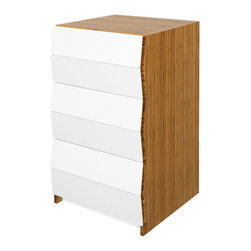 Brave Space Design - Planar 3Fold - A modern bedroom calls for a sophisticated storage option like this bamboo chest of drawers. Keep your smaller accessories in place with two shallow drawers, while larger items are divided up between the two deeper drawers. Choose between slow close or push touch technology and you'll be ready to put the laundry away in style.