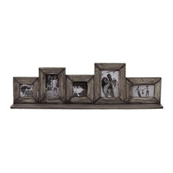 Urban Trends Collection - Picture Frame in Natural Finish - Can hold five photos of different sizes together. Made from wood. 31 in. L x 4.5 in. W x 9 in. H (4.51 lbs.)Great addition for your home decor.