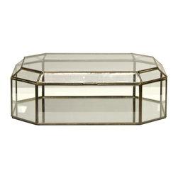 Worlds Away Octagonal Glass Box - Octagonal clear glass box