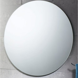 Gedy - 26 Inch Round Polished Edge Mirror - A sensible complimentary piece for a designer-quality or contemporary personal bath, this wall mount vanity mirror is the perfect option. Imported from and manufactured in italy with high-quality mirror and available in polished, this vanity mirror is part of the Gedy Planet collection. Gedy wall mount vanity mirror. From the Planet collection. Designer-Quality & high quality, made in mirror and finished in polished. Imported from and manufactured in Italy.