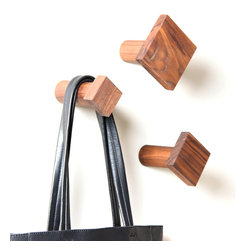 Sapele Squares Hooks - Set of 3 - A range of sizes and a cool, quirky square shape make these walls a fun accent for your entry or bath. Made of hardy African sapele woodsimilar in hue and hardness to mahoganythey're a dependable way to get your space organized.