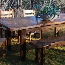 Rustic Dining Tables by Charles Allen Designs