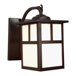 Exteriors - Exteriors Z1844-7 Mission Traditional Outdoor Wall Sconce - Small - Shown: Burnished Copper. Actual finish may appear darker than the image depicted: finish similar to dark brown