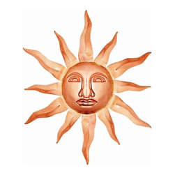 Good Directions Sunface - Polished Copper - Bring a little bit of heaven to your earthly home with these attractive accents. Radiant solid copper pieces of art in Sun and Star designs will add warmth and charm to the interior or exterior of any home.