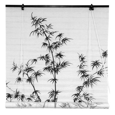 Oriental Furniture - Bamboo Tree Shoji Blinds - (48 in. x 72 in.) - Bamboo has long been admired in Japan as a symbol of longevity. Groves of this stalwart tree were traditionally grown around Shinto temples to provide a ward against evil. This shoji paper blind will meet many of your decorating needs.