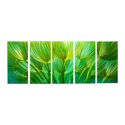 Matthew's Art Gallery - Metal Wall Art Sculpture Landscape Green Field - Name: Green Field