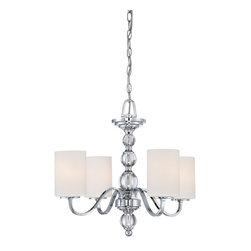 Quoizel Lighting - Downtown 1 Tier Chandelier With 4 Lights - For over seventy years, Quoizel lighting has been dedicated to the design and production of its diversified line of fine lighting products and home accessories.
