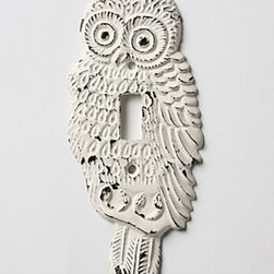 Anthropologie - Hoot, Hoot Switchplate, Single - Hardware requiredIronImported
