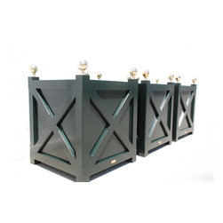 planters - Cross Planters with brass finials