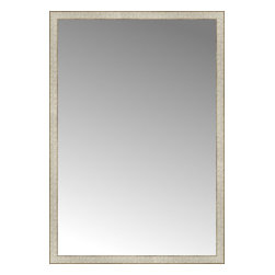 "Posters 2 Prints, LLC - 39"" x 56"" Libretto Antique Silver Custom Framed Mirror - 39"" x 56"" Custom Framed Mirror made by Posters 2 Prints. Standard glass with unrivaled selection of crafted mirror frames.  Protected with category II safety backing to keep glass fragments together should the mirror be accidentally broken.  Safe arrival guaranteed.  Made in the United States of America"