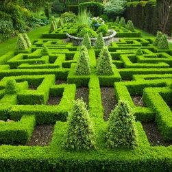 Wallmonkeys Wall Decals - Knot Garden Wall Mural - 18 Inches W x 12 Inches H - Easy to apply - simply peel and stick!