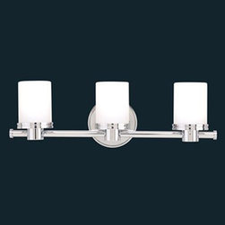Hudson Valley Lighting - Southport Bath Bar - Southport Bath Bar features Matte Opal glass shades with Polished Chrome or Satin Nickel finishes. 75 watt, 120 volt JCD type G9 xenon bulbs are included. UL listed for damp locations. 1 Light: 4.75 inch width x 6.25 inch height x 4.25 inch depth. 2 Light: 12 inch width x 6 inch height x 4.5 inch depth. 3 Light: 19.25 inch width x 6 inch height x 4.5 inch depth. 4 Light: 24.5 inch width x 6 inch height x 4.5 inch depth. 5 Light: 31 inch width x 6 inch height x 4.5 inch depth.