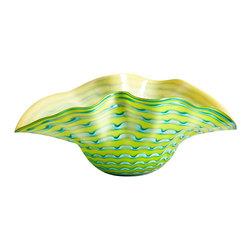 Cyan Design - Edinburgh Bowl-05164 - Edinburgh bowl - green and blue