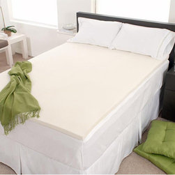Dream Form - Dream Form Eco-Friendly 3-inch Memory Foam Mattress Topper - Add luxurious comfort and extend the life of your mattress with this Dream Form Eco-Friendly memory foam mattress topper.  Memory foam with enhanced breathability prevents overheating and provides pressure relieving comfort.  Proudly made in the USA.