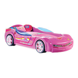 "Cilek - Turbo Car Bed with mattress, Pink, Twin - Ever dreamed of owning a European Super Car, now you can dream in one. Brought about with the latest innovations in children's furniture from Cilek. Our ""Need for Sleep"" line will make your child stand out with their own super car in their bedroom."