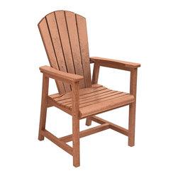 C.R. Plastic Products - C.R. Plastics Addy Dining Arm Chair In Cedar - C.R. Plastics Addy Dining Arm Chair In Cedar