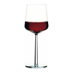 Iittala - Essence Red, Set of 2, 15.5 Ounces, Clear - Every home needs a proper set of red wine glasses. Wider than a white wine glass but not quite as large as a Bordeaux, a classic red wine glass is perfect for daily use. And this one can even be cleaned in the dishwasher, so you don't have to worry about hand washing after you polish off that bottle.