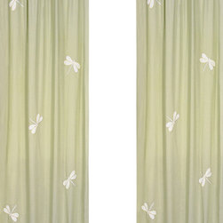 "Sweet Jojo Designs - Green Dragonfly Dreams Window Panels (Set of 2) - Create a stylish look for your child's room with the Green Dragonfly Dreams Window Panels (Set of 2). This set features 2 Window Panels that are 42"" x 84"" each."