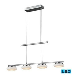 Elk Lighting - Nulco Lighting Feltham LED 4 Light 5W Glass Billiard/Island - LED 4 Light 5W Glass Billiard/Island belongs to Feltham Collection by Nulco Lighting Island Light (1)