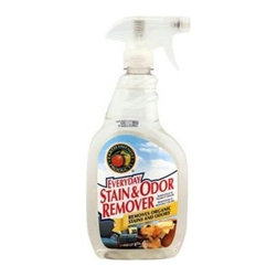 Earth Friendly Stain And Odor Remover Spray - 22 Fl Oz - Made of natural plant materials plus enzymes for added removing power, Stain and Odor Remover from Earth Friendly Products will leave you wondering why you ever used anything else to clean stains from laundry, carpet, or fabric. Earth Friendly Products uses only plant-based, recycled, animal-friendly materials to make their many useful, environmentally friendly products, which are biodegradable and non-toxic.