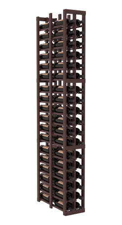 """Wine Racks America - 2 Column Double Deep Cellar in Redwood, Walnut + Satin Finish - Double the convenience of the 1 column version. Fit 6 cases of wine on less than 10"""" of wall space! This wooden wine rack is perfect for creating maximum storage capacity from every little nook and cranny without more wall space. This rack is built to last. Guaranteed."""