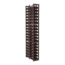 "Wine Racks America - 2 Column Double Deep Cellar in Redwood, Walnut + Satin Finish - Double the convenience of the 1 column version. Fit 6 cases of wine on less than 10"" of wall space! This wooden wine rack is perfect for creating maximum storage capacity from every little nook and cranny without more wall space. This rack is built to last. Guaranteed."