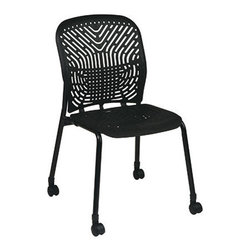 Office Star - Space Seating 801 Series Deluxe SpaceFlex Raven Seat & Back Visitors Chair - Bla - Deluxe SpaceFlex Raven Seat & Back Visitors Chair - Black Frame - Casters belongs to 801 Series Collection by Space Seating Deluxe SpaceFlex Raven Seat and Back Visitors Chair with Black Frame and Casters (2-Pack) Office Chair (2)