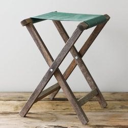 Vintage Folding Camp Stool by Pine and Main - Use a few vintage camp stools like these as seating for your guests to add a campfire feel to your party.
