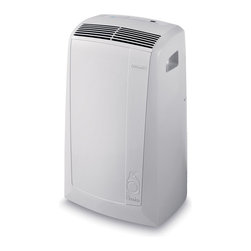Delonghi - DeLonghi PACN100E Pinguino N Series 10,000 BTU Air-to-Air Portable Air Condition - The DeLonghi PACN100E Pinguino N Series 10,000 BTU Air-to-Air Portable Air Conditioner offers maximum energy savings and comfort for rooms up to 350 square feet. Its silent operation and low power consumption cools, refreshes, dehumidifies and purifies the air. The easy-to-use Electronic Climate Control (ECC) panel includes a 24-hour digital timer and digital thermostat. The intelligent remote control allows you to operate the ECC from across the room. The exclusive Condensate Recirculation system recycles the condensation within the machine for dripless, bucketless operation. Additional features include separate dehumidifying function, separate fan function and eco-friendly R410A refrigerant. This unit is easily portable with durable castor wheels and side-carry handles so you can use it where you need it, when you need it. The easy 5-minute set up requires no tools (window bracket and exhaust hose are included).Pinguino N Series 10,000 BTU 115-volt air-to-air portable air conditioner|Cools rooms up to 350 square feet|Low power consumption saves energy|Eco-friendly R410A refrigerant|Quiet mode to ensure maximum quietness|Exclusive condensate recirculation system recycles the condensation within the machine for dripless, bucketless operation|Dehumidification while cooling removes 49.6 pints of excess moisture per day|Separate dehumidifying only function removes 76.08 pints of excess moisture per day|Electronic Climate Control (ECC) panel with digital thermostat|Intelligent remote control operates the ECC from across the room|  delonghi| pinguino| pac-n100e| pacn100e| cool| cooling| air-to-air| air to air| air| to| conditioner| portable| window| ac| a/c| eco-friendly| ecofrie  Package Contents: air conditioner|remote control|AAA batteries|window bracket|exhaust hose|manual|warranty  This item cannot be shipped to APO/FPO addresses