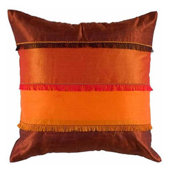 Rizzy Home - Orange and Rust Decorative Accent Pillows (Set of 2) - T04043 - Set of 2 Pillows.