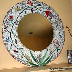 Fantasy Vine Mosaic Mirror -