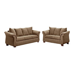 Chelsea Home Furniture - Chelsea Home Kiersten 2-Piece Living Room Set in Victory Lane Taupe - Kiersten 2-Piece living room set in Victory Lane Taupe belongs to the Chelsea Home Furniture collection