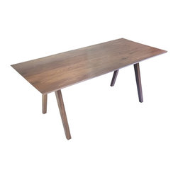"Moderncre8ve - Mid Century Inspired Solid Walnut Dining Table 90"" - Time to buy a real dining table?"