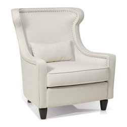 ARTeFAC - Transitional Wing Chair in Fabric - Transitional Wing Chair in Fabric