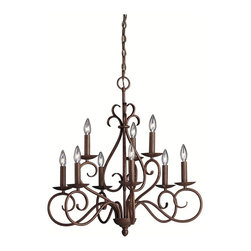 BUILDER - BUILDER Norwich Traditional Chandelier X-ZT4171 - From the Norwich Collection, this Kichler Lighting chandelier features a romantic design with classic influencing and warm details that captivate and delight. The elegant scrolling arms and candelabra lights are highlighted by a rich and earthy Tannery Bronze hue over sturdy hand wrought iron construction that ensures it will be around for years.