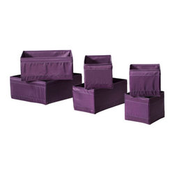 Monika Mulder - SKUBB Storage box, set of 6 - Storage box, set of 6, lilac