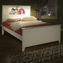 None - LightHeaded Beds Shaker Full Bed in Satin White with back-lit LED Headboard - Your Bed,Your Way!  It's remote controlled! It's a reading light! It's a nightlight! It can change for holidays,special events,seasons,and at your whim as your child's interests and hobbies grow and change!