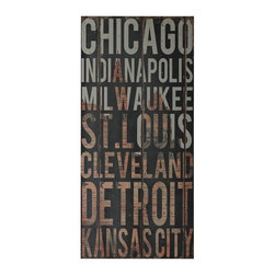 Joshua Marshal - American Cities 2-American Cities Wall Decor II - American Cities 2-American Cities Wall Decor Ii